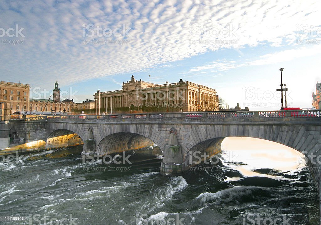 Stockholm Bridge stock photo
