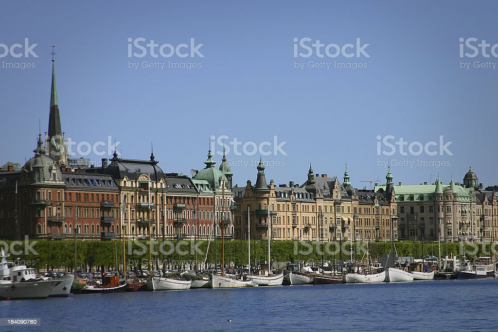 Stockholm by the Water royalty-free stock photo