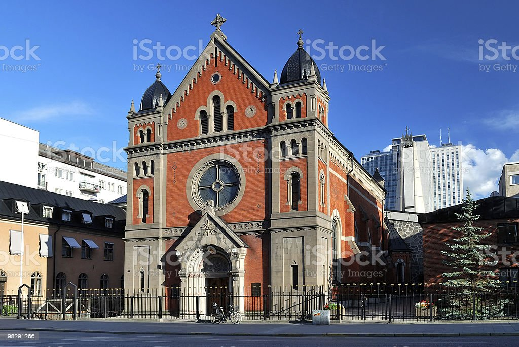 Stoccolma. Cattedrale cattolica foto stock royalty-free