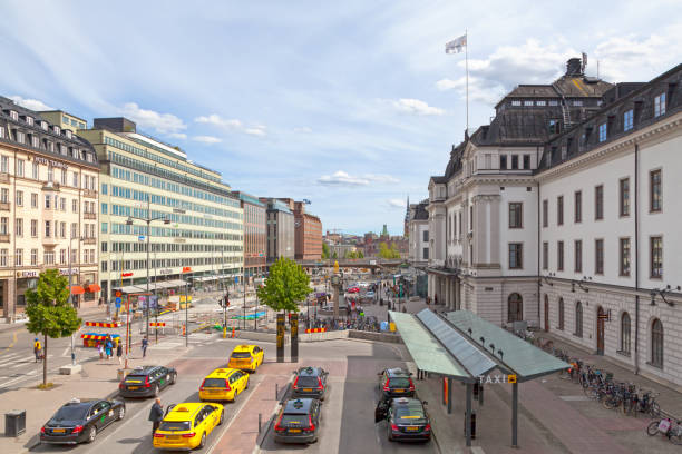 Stockholm Central Station stock photo