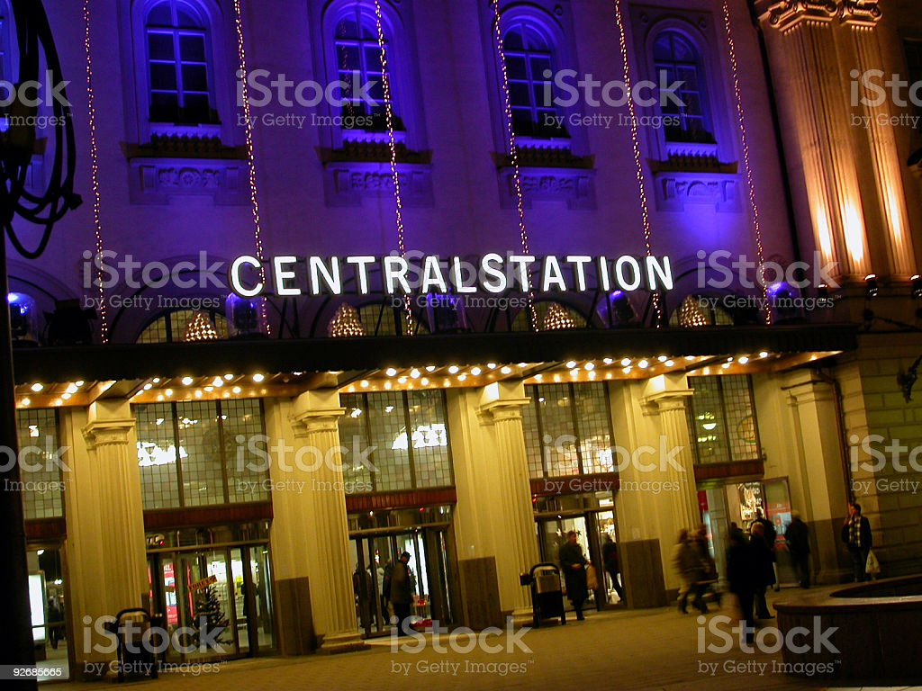 Stockholm Central Station stock photo