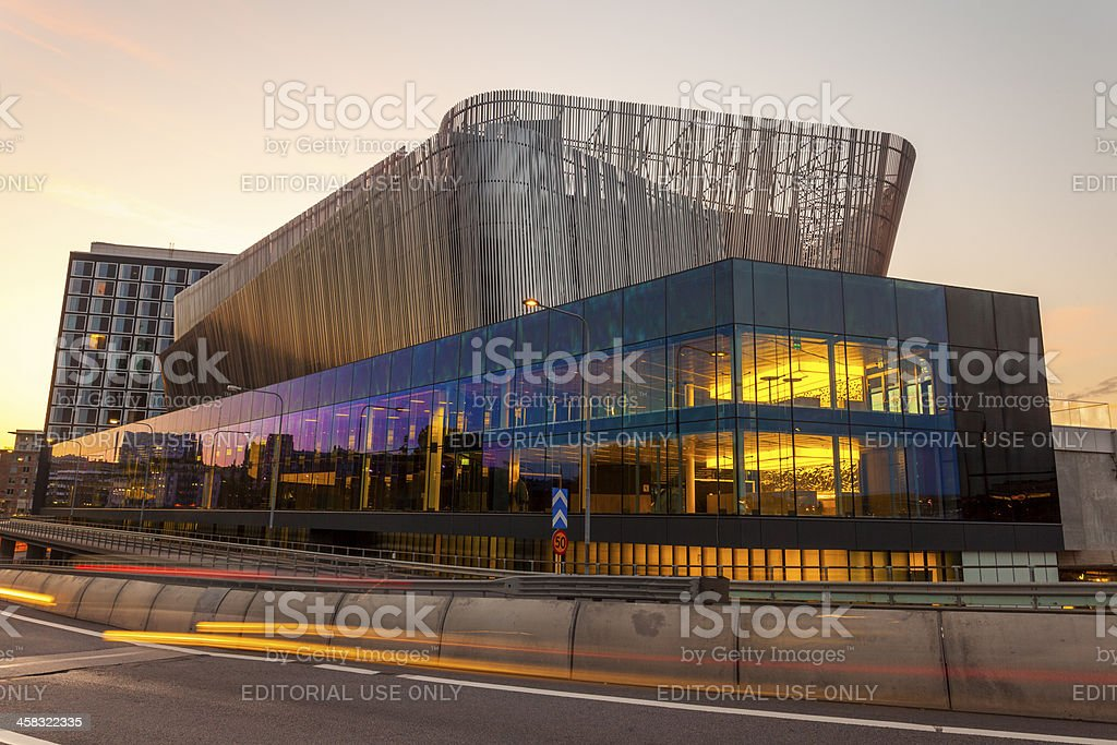 Stockholm Central Train Station & Congress Centre royalty-free stock photo