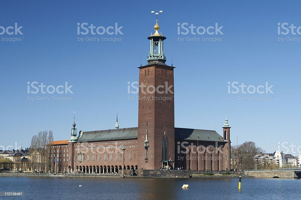 Stockholm City Hall royalty-free stock photo