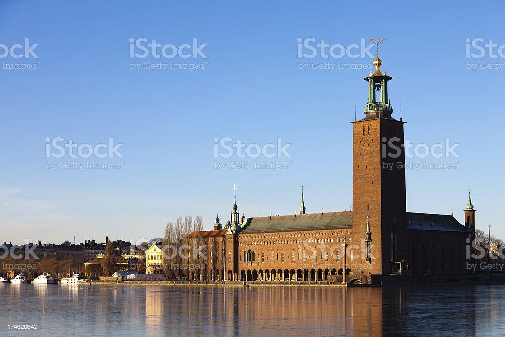Stockholm City Hall royalty-free stock photo