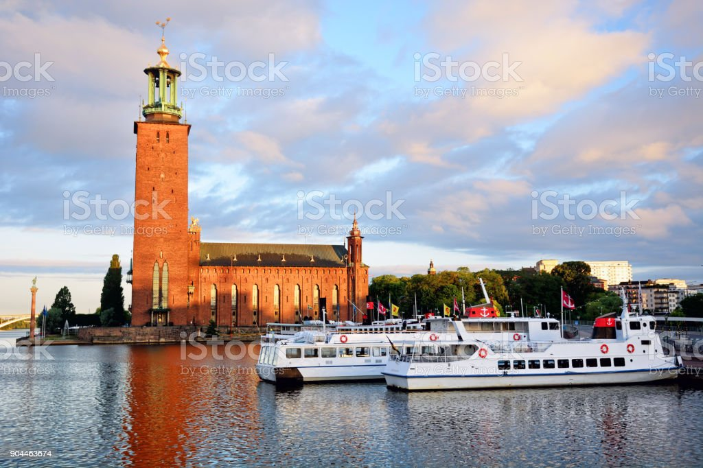 Stockholm City Hall, Sweden stock photo
