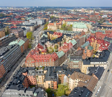 Stockholm city seen from above
