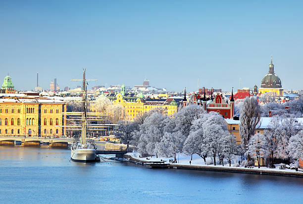 Stockholm City, Sweden Stockholm City at winter stockholm stock pictures, royalty-free photos & images