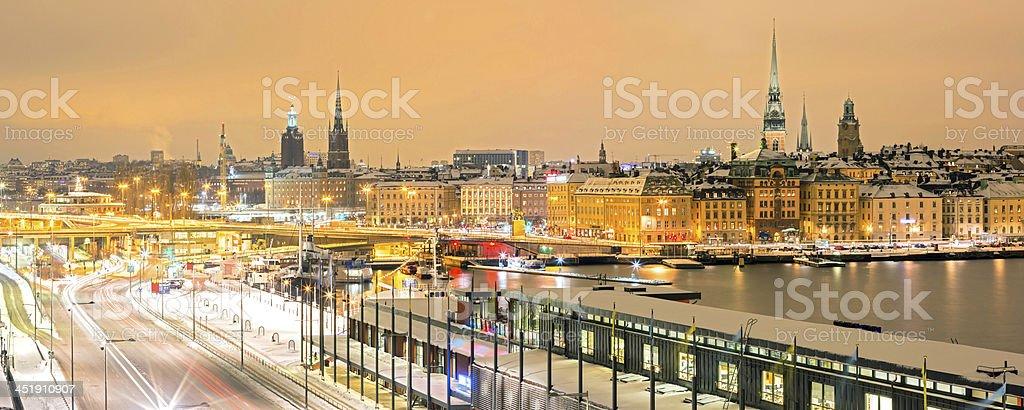 Stockholm Cityscape panorama royalty-free stock photo