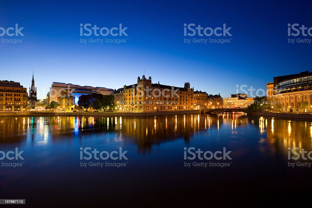 Stockholm Cityscape, Sweden stock photo