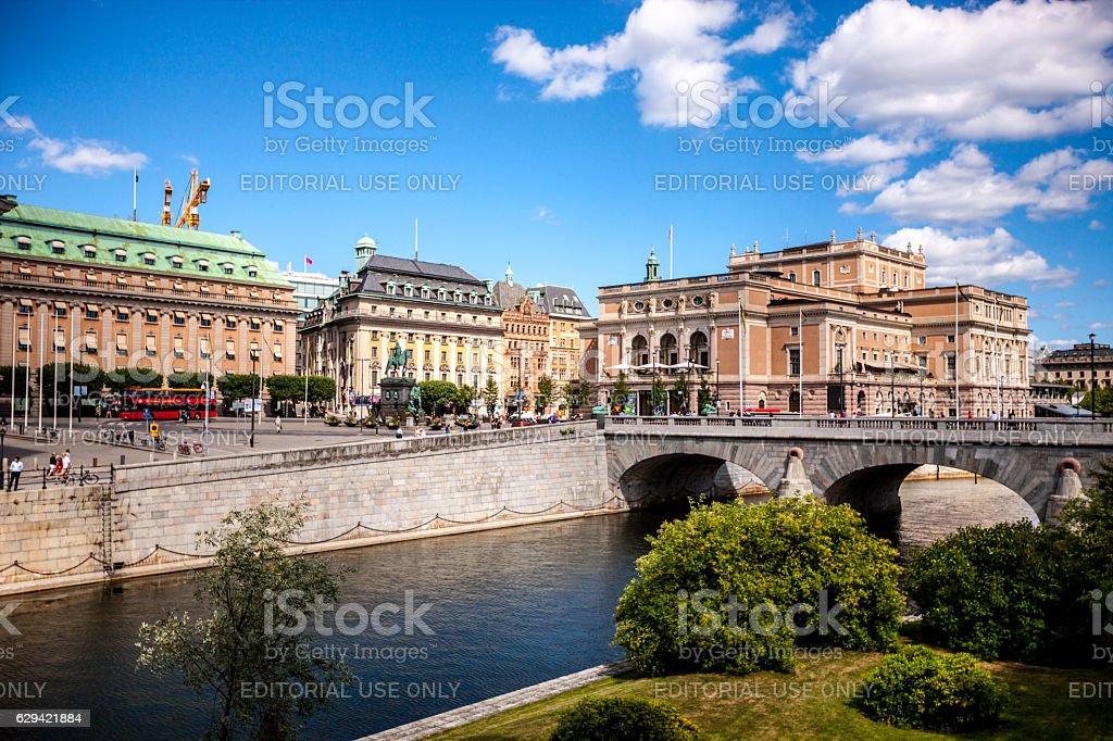 Stockholm cityscape, Sweden stock photo