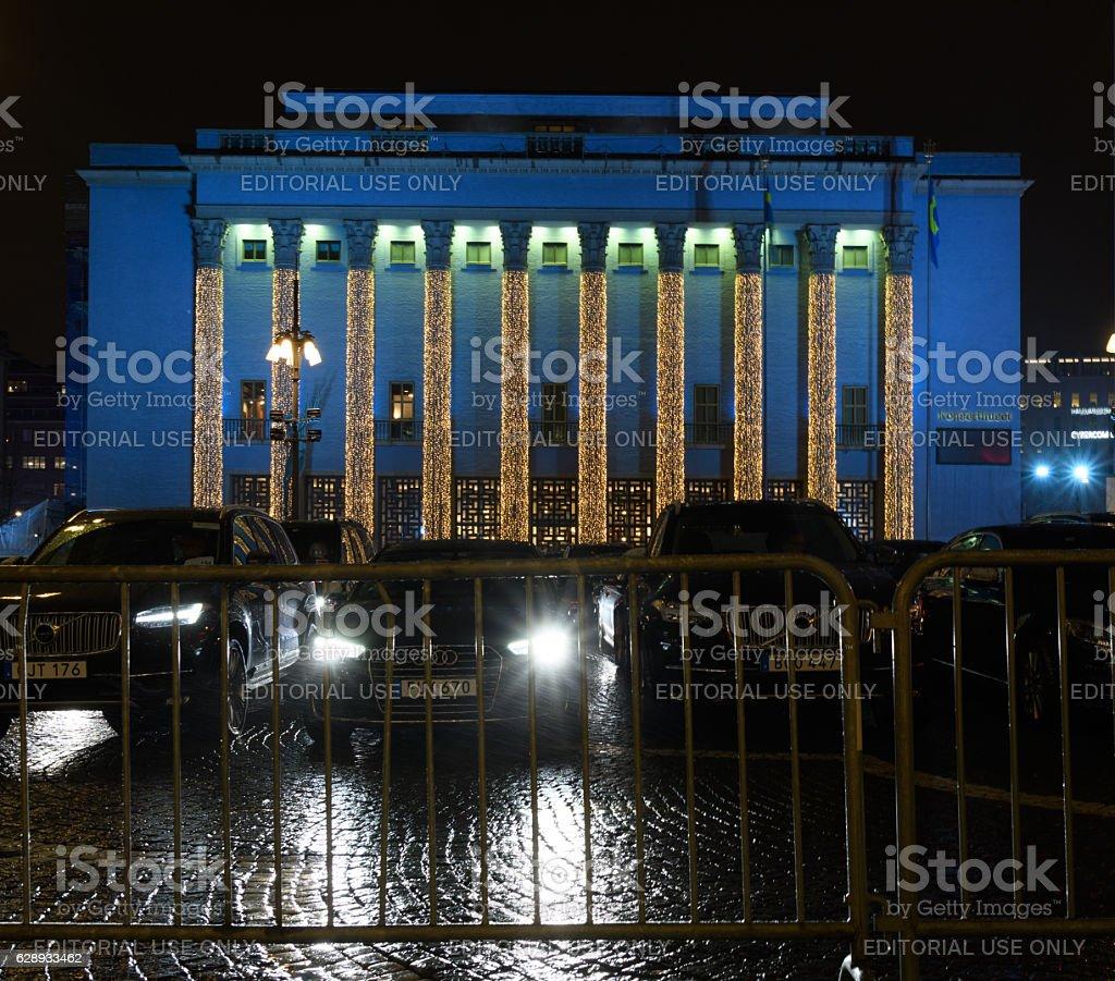 Stockholm Concert Hall at the Nobel Prize Award Ceremony stock photo