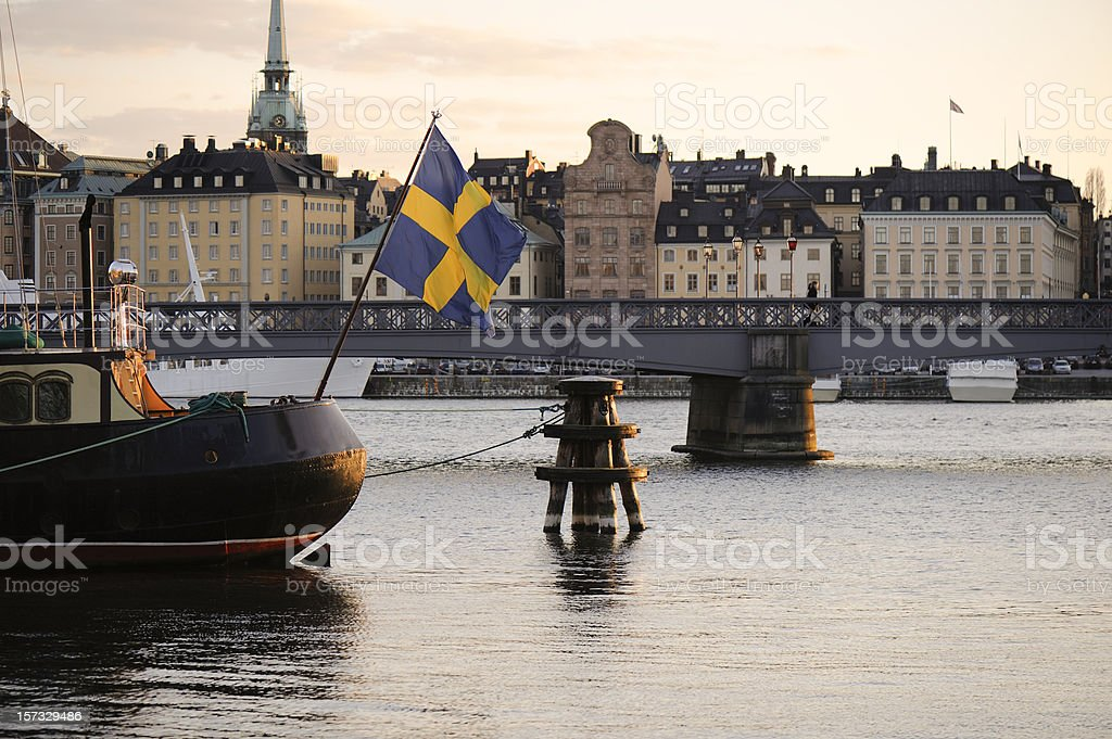 Stockholm downtown royalty-free stock photo
