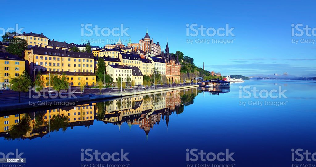 Stockholm  early summer morning stock photo