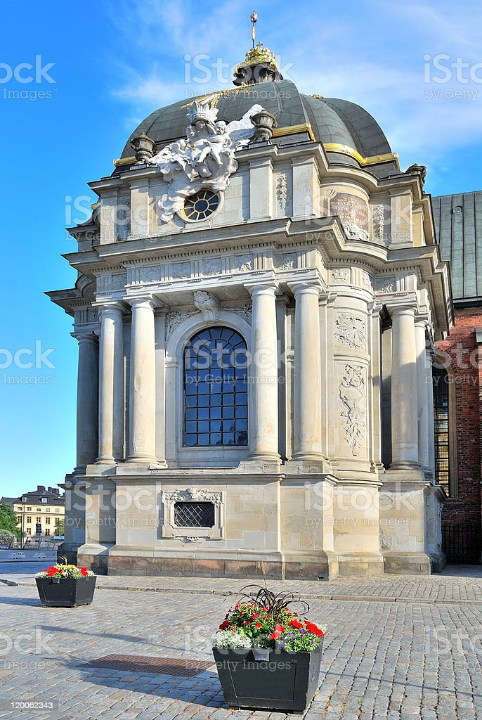 Stockholm. Fragment of the Knights Church royalty-free stock photo