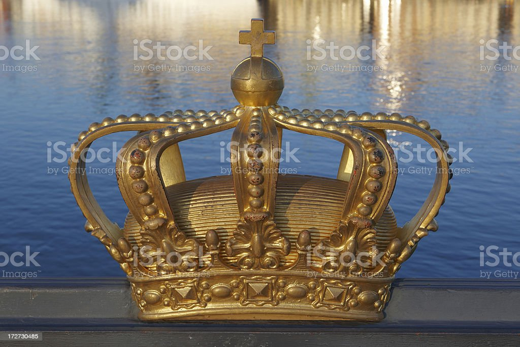 Stockholm Golden Crown stock photo