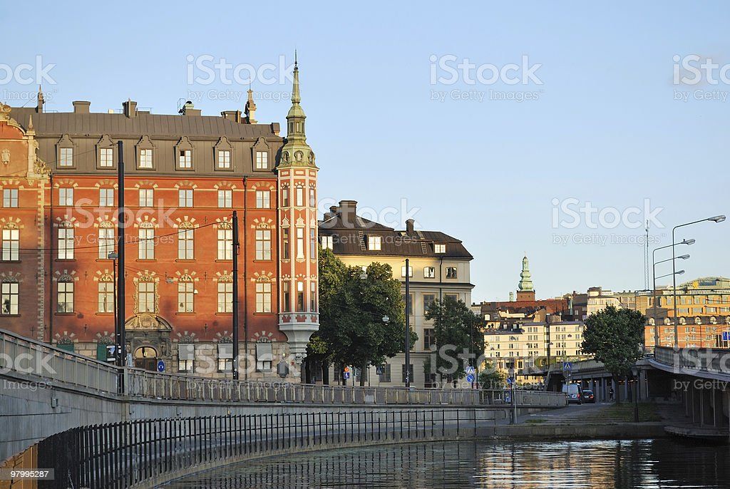 Stockholm in the evening royalty-free stock photo