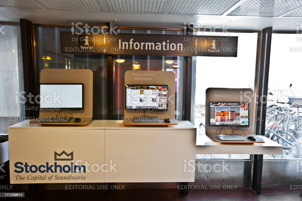 Stockholm Information stock photo