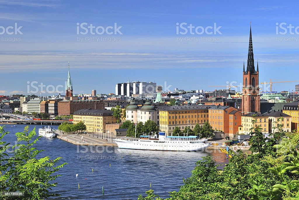 Stockholm, Island Riddarholmen royalty-free stock photo