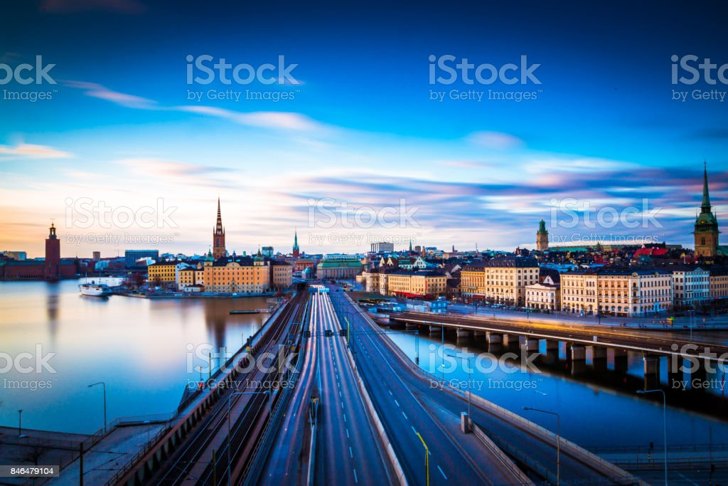 Stockholm Morning view stock photo