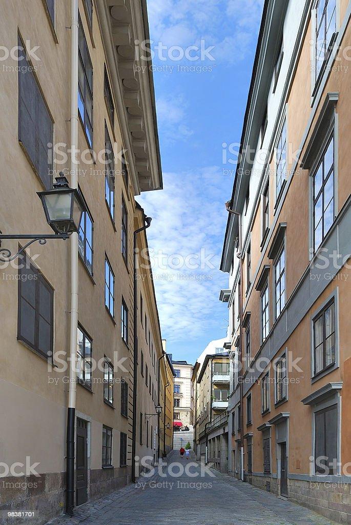 Stockholm. Narrow street royalty-free stock photo