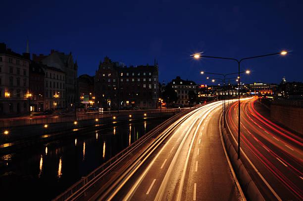 Stockholm Nacht Szene – Foto
