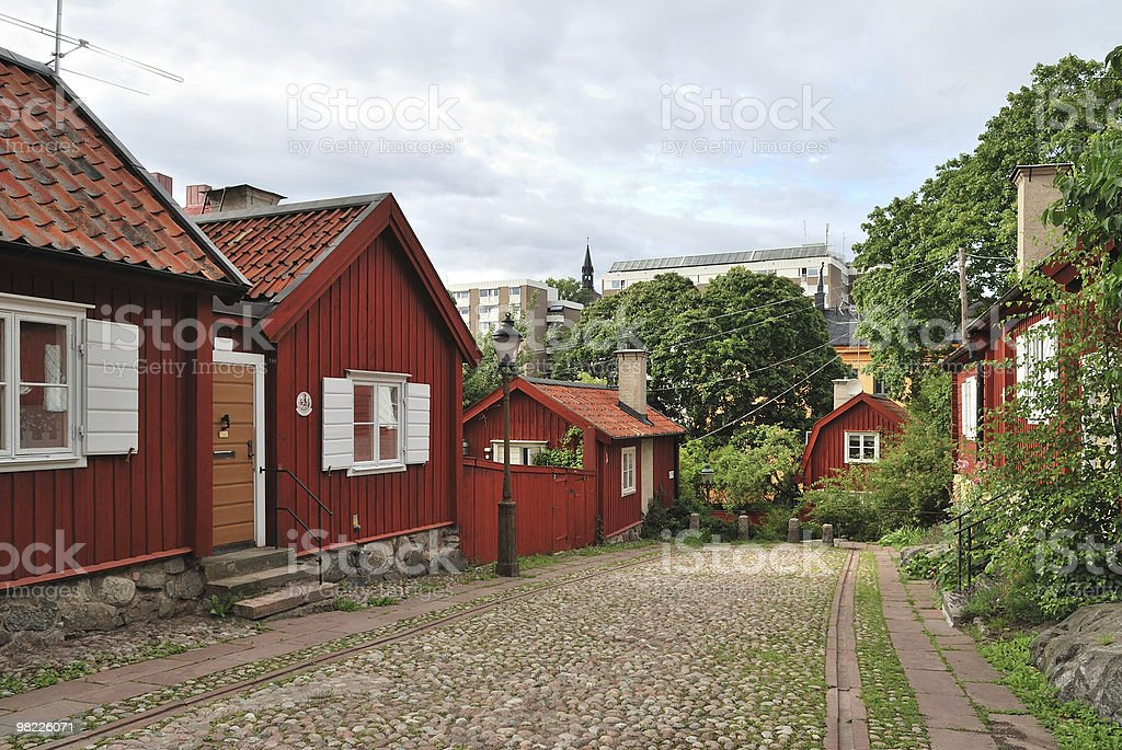 Stockholm. Old street royalty-free stock photo