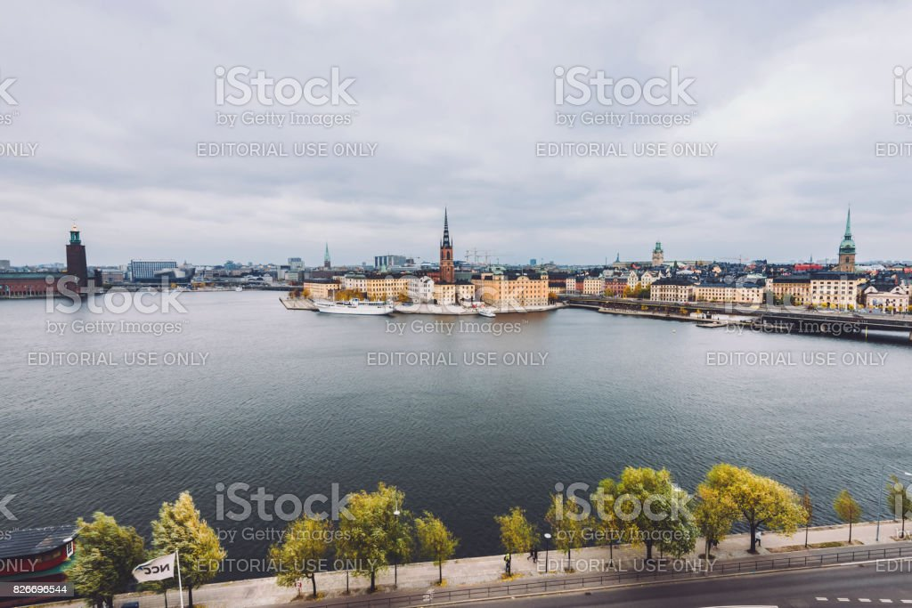 Stockholm Old Town Panorama stock photo