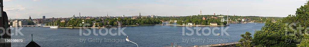 stockholm panoramic royalty-free stock photo