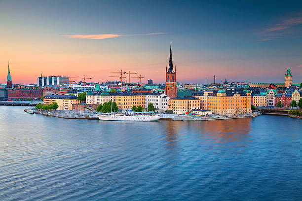 Stockholm. Image of Stockholm, Sweden during twilight blue hour. stockholm stock pictures, royalty-free photos & images