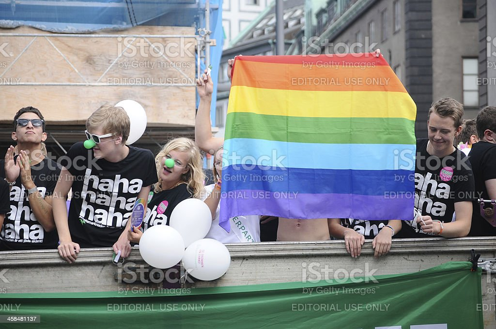 Stockholm pride parade royalty-free stock photo