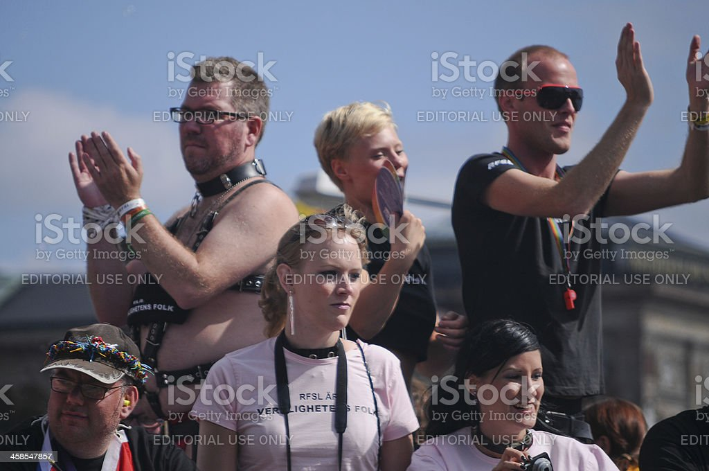 Stockholm pride parade royalty-free stock photo