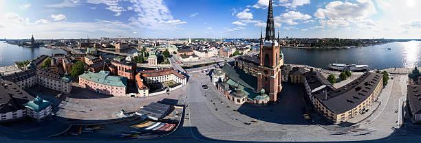 Stockholm Riddarholmen 360 degree Panorama stock photo