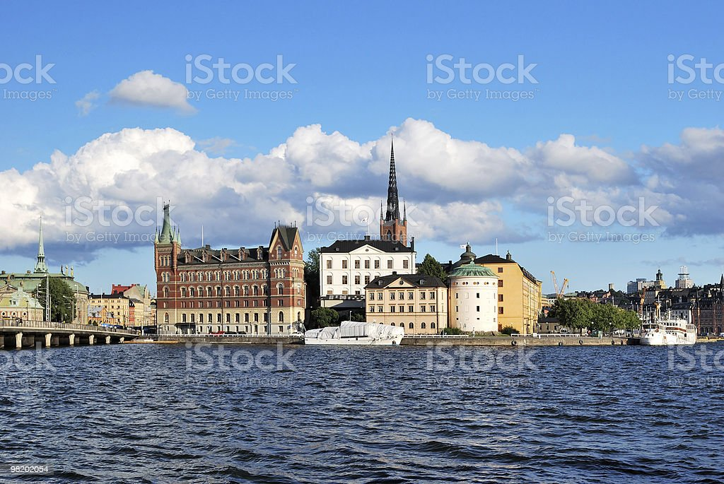 Stoccolma, Riddarholmen foto stock royalty-free