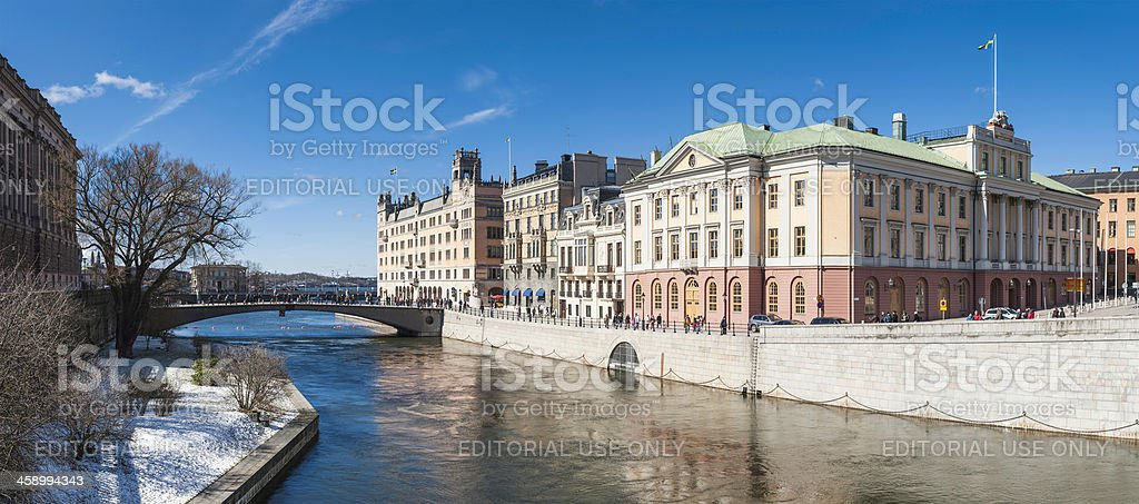Stockholm Rosenbad Gamla Stan landmarks panorama Sweden stock photo