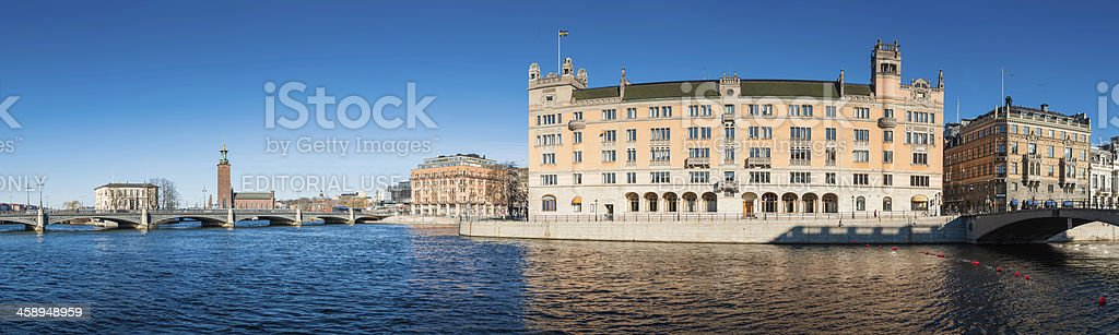 Stockholm Rosenbad Prime Minister's Office and Chancellery panorama Sweden stock photo
