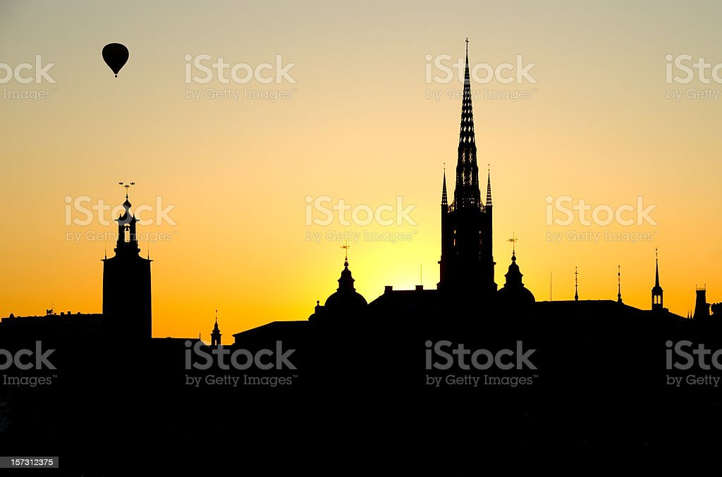 Stockholm silhouette royalty-free stock photo