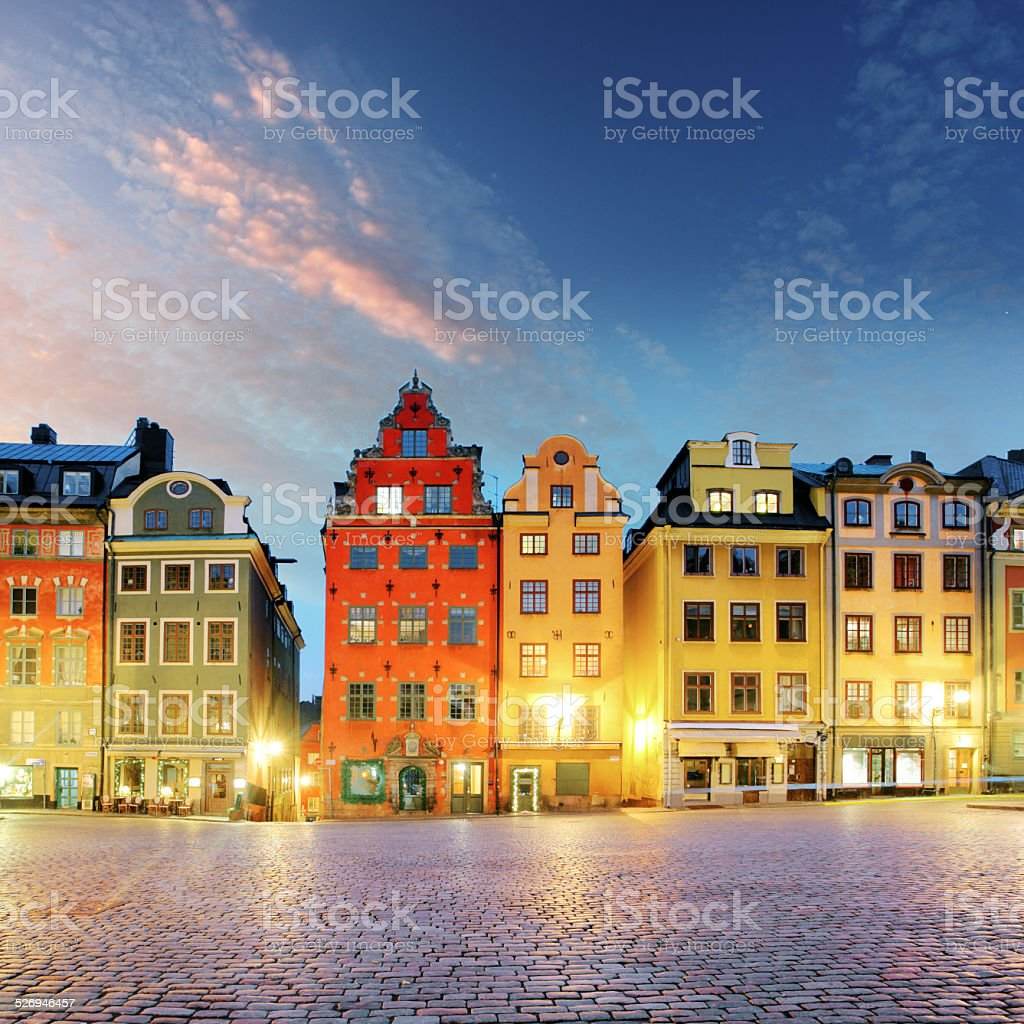 Stockholm - Stortorget place in Gamla stan stock photo