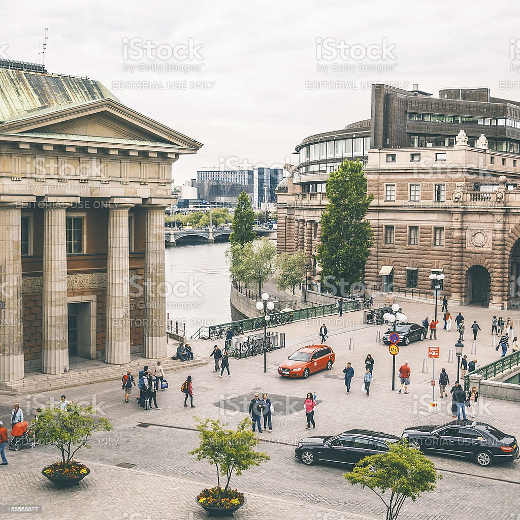 Stockholm streets. royalty-free stock photo