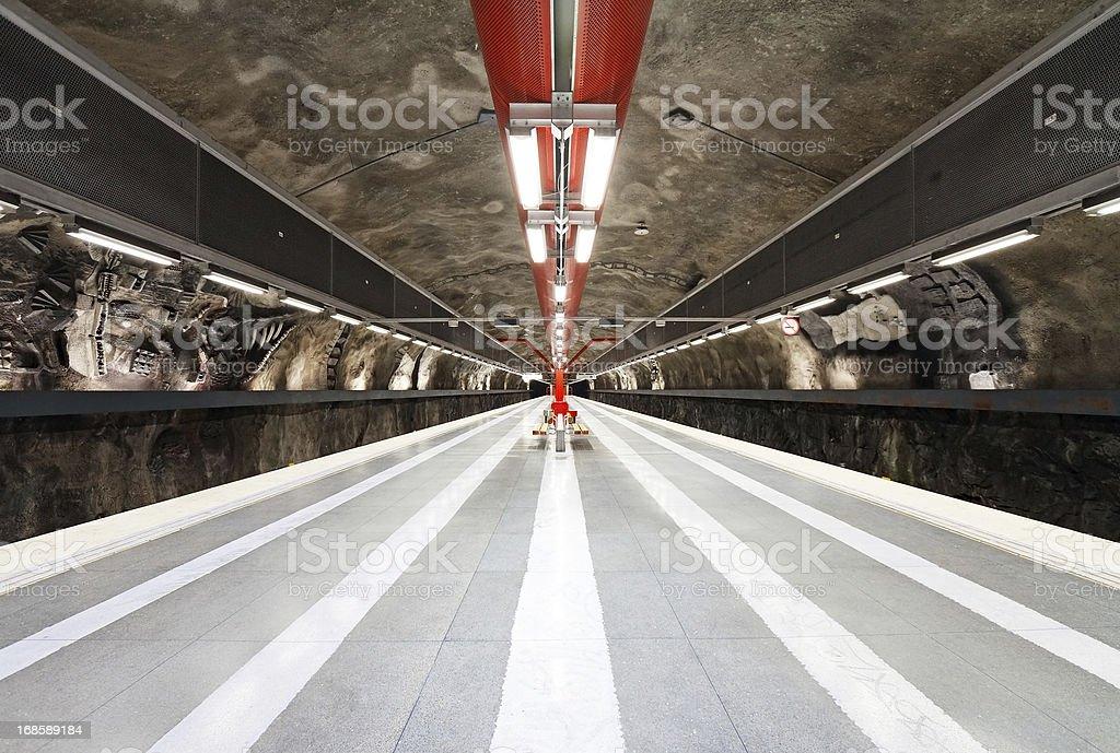 Stockholm Subway station stock photo