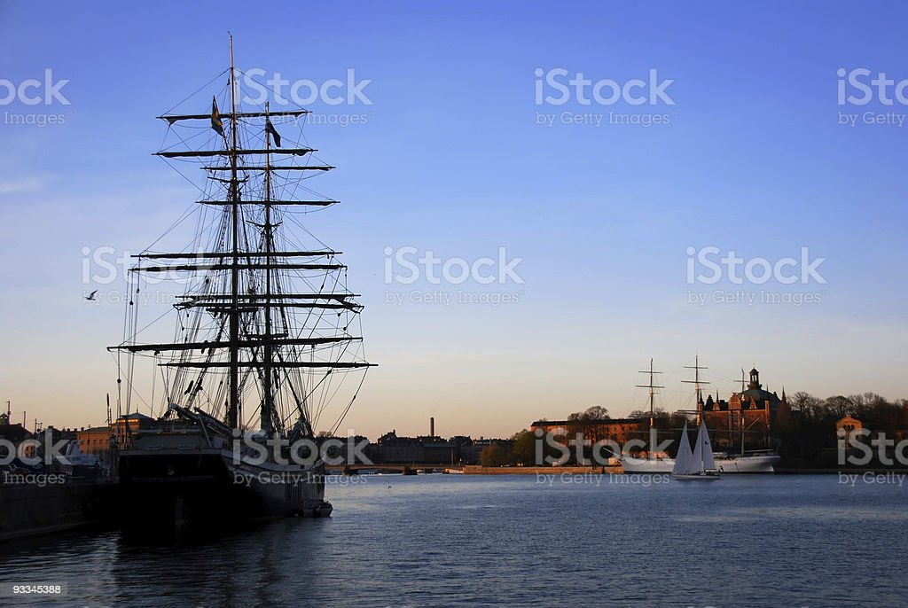 Stockholm, Sweden at Twilight royalty-free stock photo
