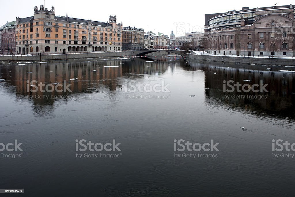 Stockholm Sweden in January royalty-free stock photo
