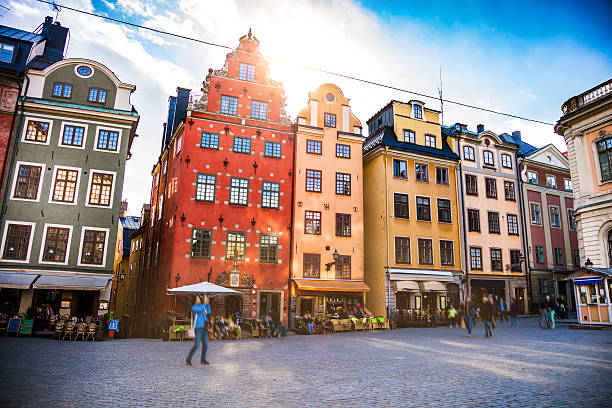 Stockholm, Sweden, Old town and town square Stockholm, Sweden, Old town and town square. stockholm stock pictures, royalty-free photos & images