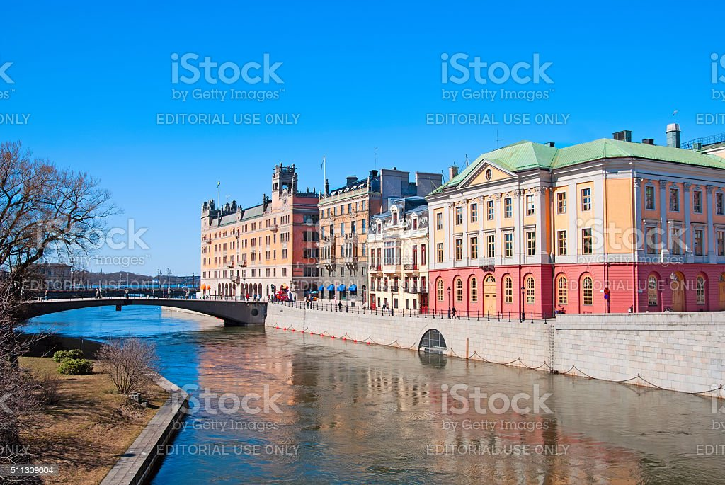 Stockholm. Sweden. State institutions stock photo