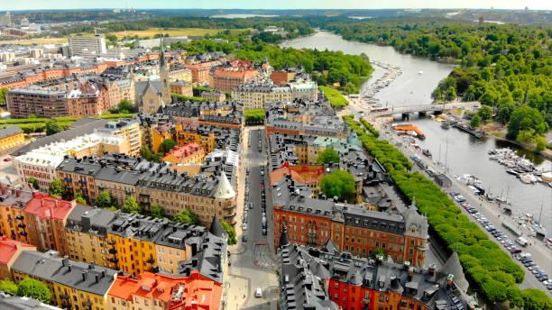 Stockholm Schweden, Östermalm, malerische Luftaufnahme – Foto