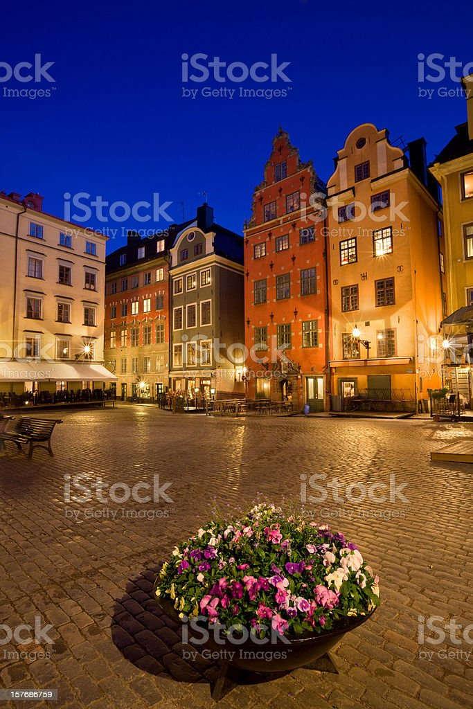 Stockholm Sweden Stortorget Downtown Square royalty-free stock photo