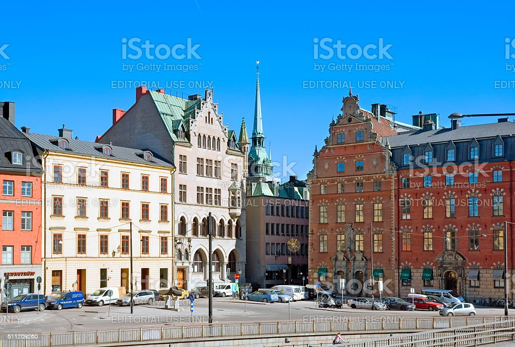 Stockholm. Sweden. View of Gamla Stan stock photo