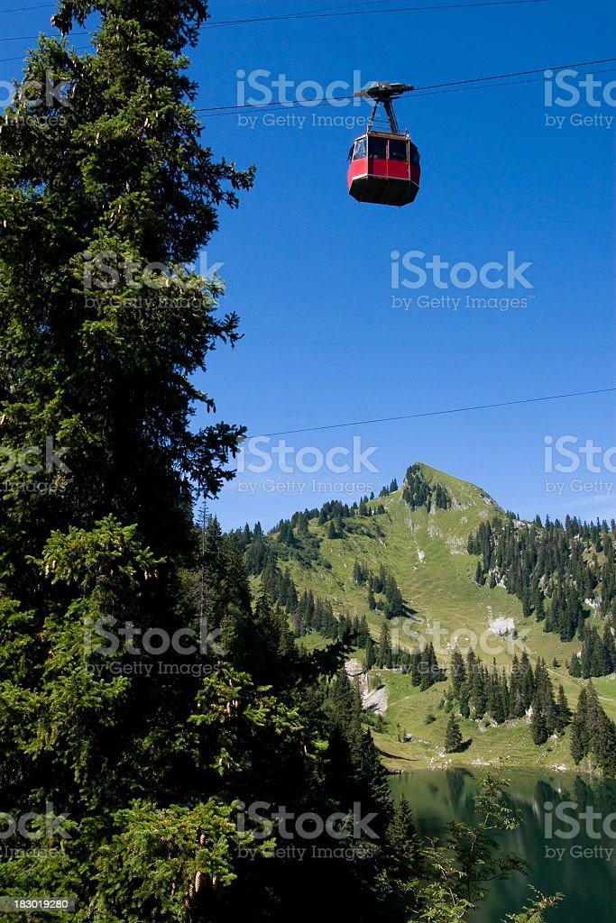 Stockhorn cable-car royalty-free stock photo