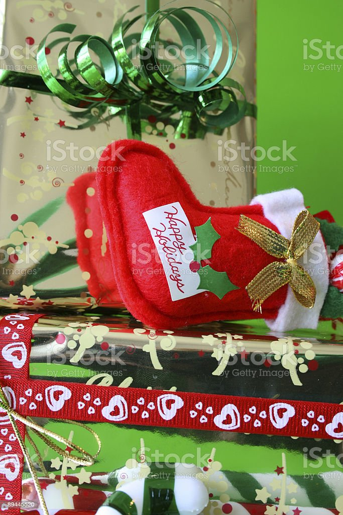 Stocking lying down royalty-free stock photo