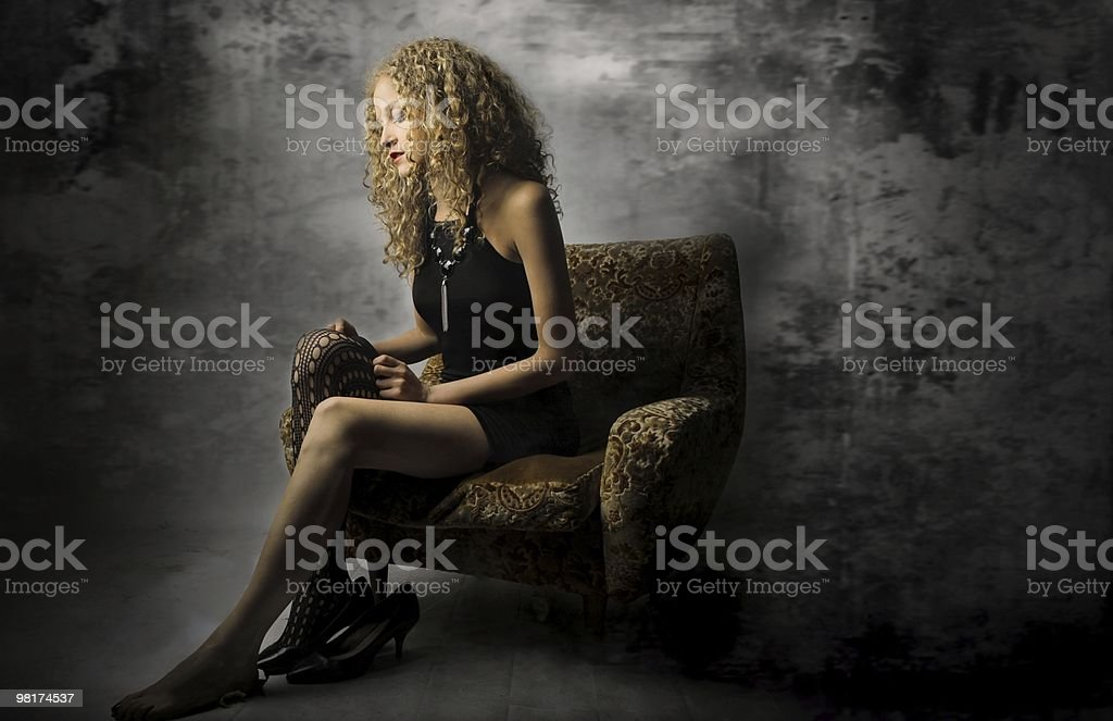 stocking royalty-free stock photo
