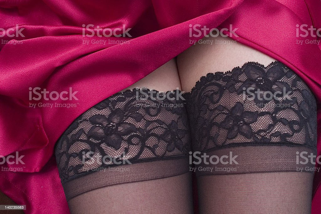 Stocking Tops stock photo